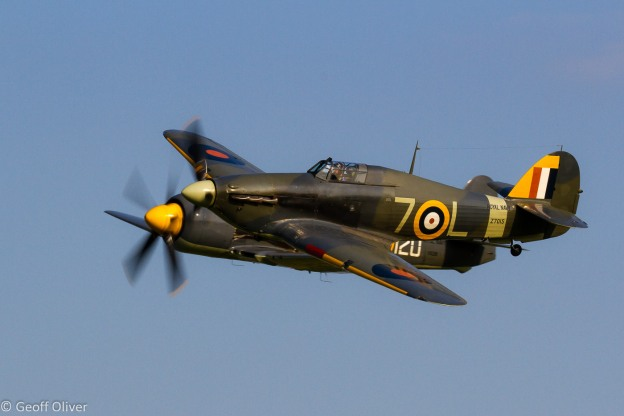 Shuttleworth Evening Flying July 2013 - Hawker Sea Fury and Sea Hurricane