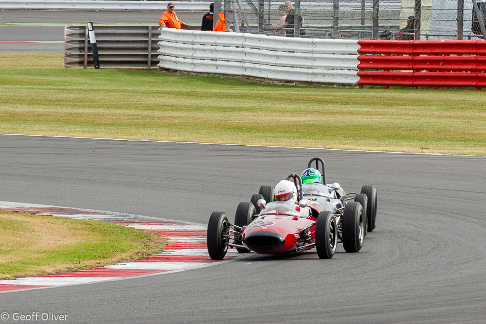 Andrew Hibberd, on his way to victory in his Lotus 22 after a race-long battle with Sam Wilson