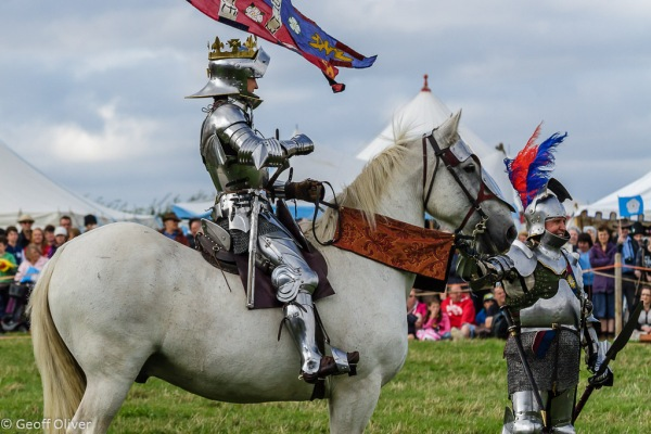 King Richard III addresses his troops one last time - Bosworth Battlefield Anniversary Re-enactment 2013