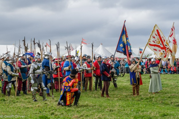 Calm before the battle - Bosworth Battlefield Anniversary Re-enactment 2013