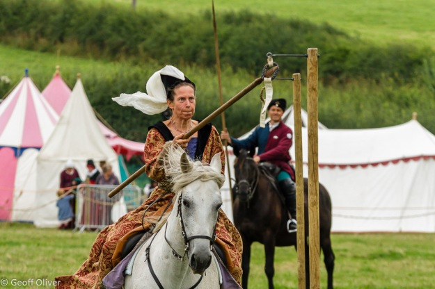 Mounted Skills at Arms - Capturing the Ring - Bosworth Battlefield Anniversary Re-enactment 2013