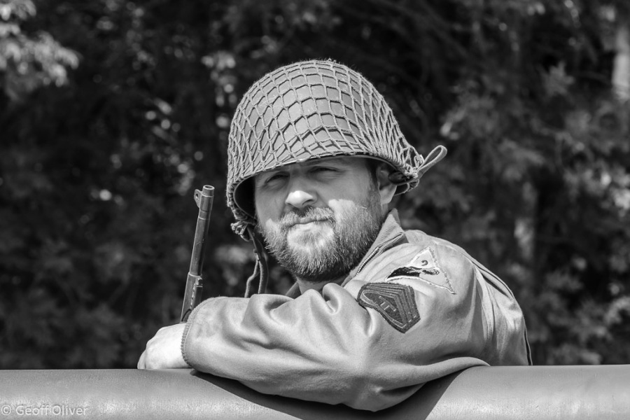 American GI waits for the battle to begin, The Victory Show 2013