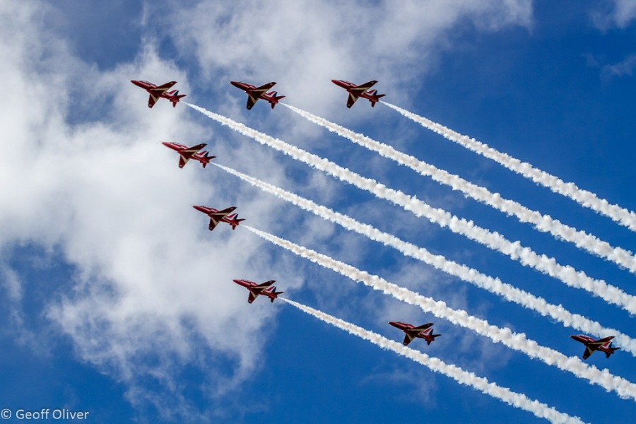 The Red Arraws Flypast, The Victory Show 2013